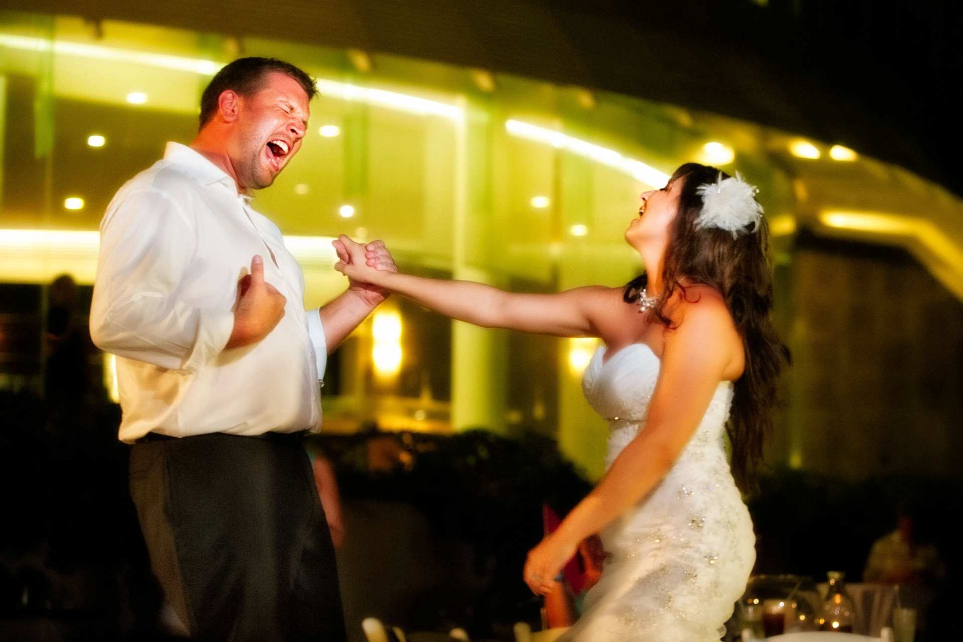 Bride and Groom Rock Out